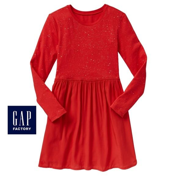 GAP Other - Mixed media long sleeve dress